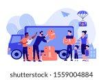 team of volunteers giving help... | Shutterstock .eps vector #1559004884