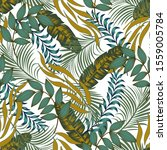 fashionable seamless tropical... | Shutterstock .eps vector #1559005784