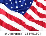 closeup of american flag | Shutterstock . vector #155901974