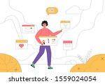 digital marketing concept ...