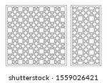 set decorative card for cutting.... | Shutterstock .eps vector #1559026421