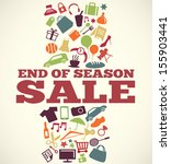 sale design with icons and... | Shutterstock .eps vector #155903441
