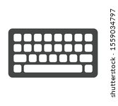 keyboard icon isolated on white ...