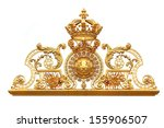 isolated golden gates to... | Shutterstock . vector #155906507