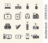 big data icon set  wireless... | Shutterstock .eps vector #155911511