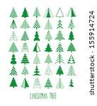 Set Of 42 Christmas Trees