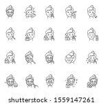 skin care procedures linear... | Shutterstock .eps vector #1559147261