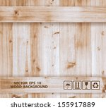 Vector Wood Box Template Design