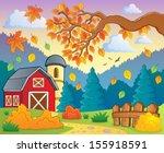 autumn theme landscape 1  ... | Shutterstock .eps vector #155918591