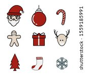 set of elements for christmas... | Shutterstock .eps vector #1559185991