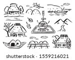 ancient japanese countryside... | Shutterstock .eps vector #1559216021