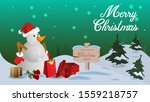 christmas green banner with a... | Shutterstock .eps vector #1559218757