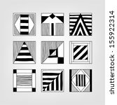 set of abstract forms | Shutterstock .eps vector #155922314