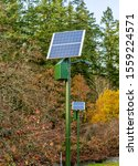 Solar Powered Lights In A Park...