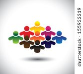 abstract colorful group of... | Shutterstock .eps vector #155923319