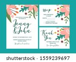 wedding invitations  set of... | Shutterstock .eps vector #1559239697