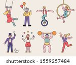Circus Members Perform Various...