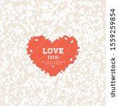 heart shape rice and salmon... | Shutterstock .eps vector #1559259854