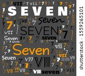 seven  7  number word cloud ... | Shutterstock . vector #1559265101