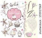 vanilla time doodles | Shutterstock .eps vector #155927069