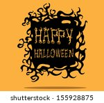happy halloween. | Shutterstock .eps vector #155928875