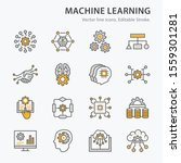 machine learning icons icons ... | Shutterstock .eps vector #1559301281