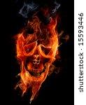 fire skull   Shutterstock . vector #15593446