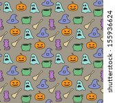 seamless halloween pattern on... | Shutterstock .eps vector #155936624