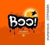 halloween message boo . design...   Shutterstock .eps vector #155936684
