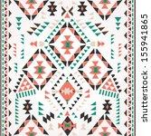 seamless retro ethnic print... | Shutterstock .eps vector #155941865