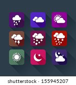 weather app flat icon colorful  ...