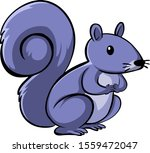 purple squirrel on white... | Shutterstock .eps vector #1559472047
