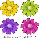 Isolated Set Of Flowers...