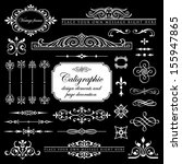 calligraphic design elements... | Shutterstock .eps vector #155947865