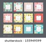 calendar pattern 2014 | Shutterstock .eps vector #155949599
