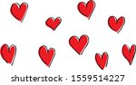 the illustration of many hearts | Shutterstock .eps vector #1559514227