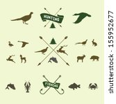 hunting icon set | Shutterstock .eps vector #155952677