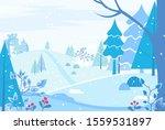 winter landscape in forest.... | Shutterstock .eps vector #1559531897