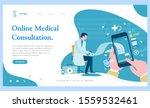 online medical consultation... | Shutterstock .eps vector #1559532461