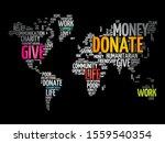 donate word cloud in shape of... | Shutterstock .eps vector #1559540354