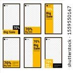 editable social media stories... | Shutterstock .eps vector #1559550167