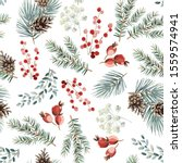 christmas seamless pattern  red ... | Shutterstock .eps vector #1559574941