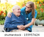 kind doctor taking care of an... | Shutterstock . vector #155957624
