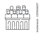 jury trial line black icon.... | Shutterstock .eps vector #1559636027