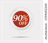 discount with the price is 90 . ...   Shutterstock .eps vector #1559692244