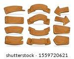 cartoon wooden signboards of... | Shutterstock .eps vector #1559720621