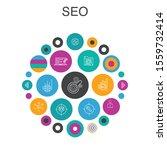 seo infographic circle concept. ...