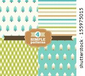 set of simple patterns in one... | Shutterstock .eps vector #155975015