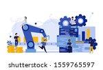 vector business industry robot... | Shutterstock .eps vector #1559765597
