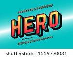 comics style super hero font ... | Shutterstock .eps vector #1559770031